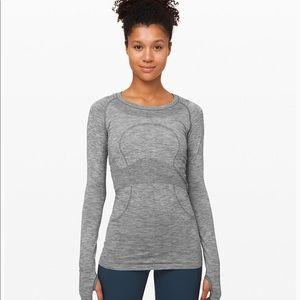 New lululemon swiftly tech grey shirt